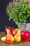 Fruit with flowers Stock Photo