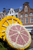 Fruit with flowers at flower parade royalty free stock photo