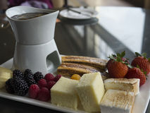 Fruit Fondue Stock Images