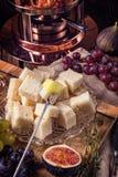 Fruit fondue Stock Photo