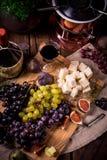 Fruit fondue Stock Photos