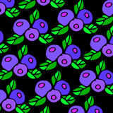 Fruit food blueberry vector berry organic juice sweet leaf healt Stock Photos