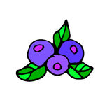 Fruit food blueberry vector berry organic juice sweet leaf healt Royalty Free Stock Photography