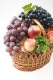 Fruit food objects in a basket Stock Photo