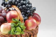 Fruit food objects in a basket Stock Photos