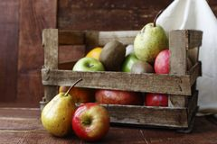 Fruit/food. Wood font with fruit photographed image Royalty Free Stock Photo