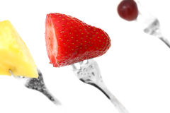 Fruit on a Fork Royalty Free Stock Image