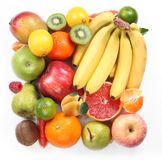 With fruit in the form of a square Royalty Free Stock Image