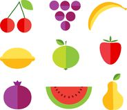 Fruit forms with fruits template Stock Images