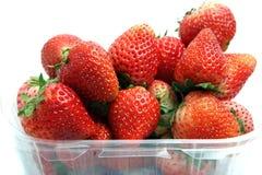 Fruit frais de fraise d'isolement sur le backgroud blanc Image libre de droits