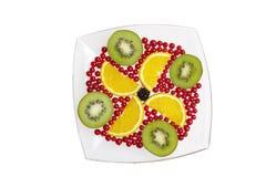 Fruit frais de la plaque blanche Image stock