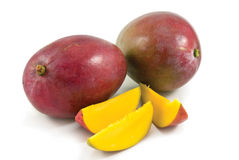 Fruit frais de mangue avec la coupure Image libre de droits