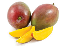 Fruit frais de mangue avec la coupure Images libres de droits