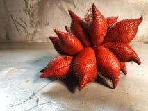 Fruit frais de Salacca sur le fond de ciment Images stock