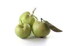Fruit frais de trois goyaves sur le blanc Images stock