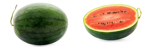Fruit frais juteux de pastèque Photos libres de droits