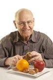 Fruit frais mangeur d'hommes aîné Images stock