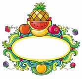 Fruit frame Royalty Free Stock Image