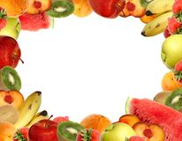 Fruit frame Royalty Free Stock Photo
