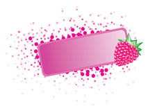Fruit frame. Pink frame with a tasty berry Stock Image
