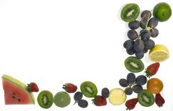 Fruit frame royalty free stock photography