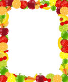 Fruit frame vector illustration Stock Photo