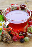 Fruit fresh berry red tea Royalty Free Stock Image