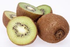 Fruit of fresh kiwi on white background Stock Images