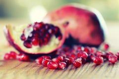 Fruit fresh red pomegranate Stock Photography