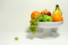 Fruit in a fruit bowl Stock Photography