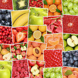 Fruit fruits background with apples, oranges, lemons Stock Photography