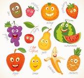 Fruit. Funny cartoon character vector illustration