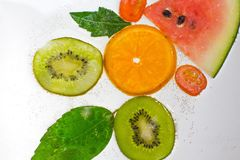 Fruit gai, fruits mélangés Photos libres de droits