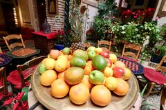 Fruit garden , oranges, mangos and apples Royalty Free Stock Images
