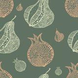 Fruit garden. seamless pattern. Vector Stock Photo