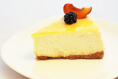 Fruit Garnished Cheesecake Royalty Free Stock Photography