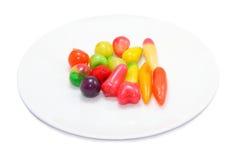 Fruit-geïmiteerd met een laag bedekt met gelei Stock Afbeelding
