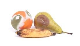 Fruit geïsoleerd rotten stock foto