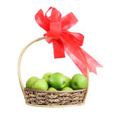Fruit gift basket Royalty Free Stock Photos