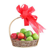 A fruit gift basket Royalty Free Stock Photos