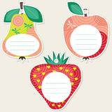 Fruit gift tags Royalty Free Stock Photography