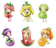 Fruit Girl collection Stock Photography
