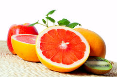 Fruit Grapefruit vitamins. Nutrition Health stock photography