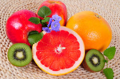 Fruit Grapefruit vitamins Stock Photography