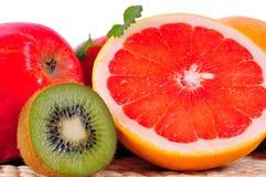 Fruit Grapefruit vitamins. Fruit Grapefruit Kiwi vitamins Nutrition Health Royalty Free Stock Image