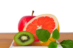 Fruit Grapefruit vitamins Kiwi Royalty Free Stock Photography