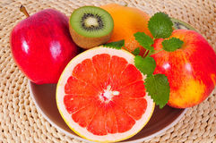 Fruit Grapefruit vitamins Kiwi Stock Photography