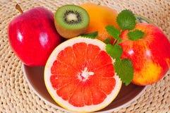 Fruit Grapefruit vitamins Kiwi Stock Photography