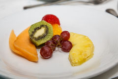 Fruit with Grapes and Kiwi Royalty Free Stock Photography