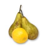 Fruit. Green pear and lemon yellow Royalty Free Stock Images